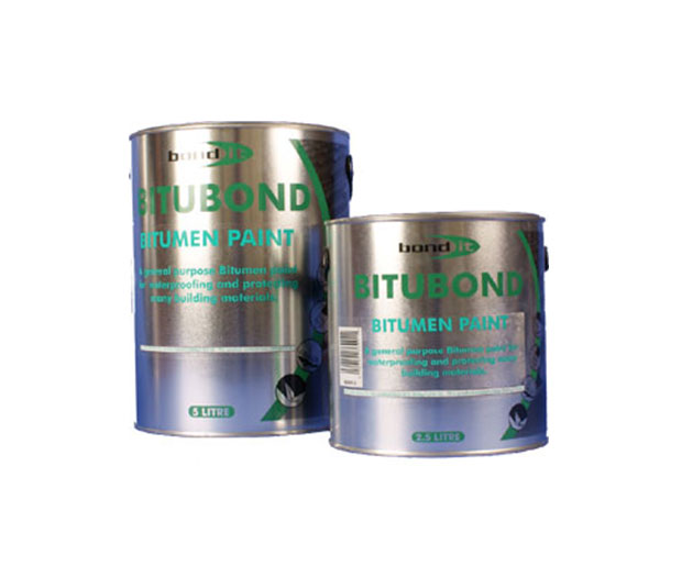A solvent-borne, bituminous black paint for the waterproofing and weather protecting of steelwork and concrete