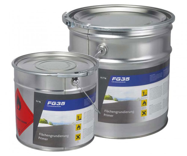 FG 35 is a quick-drying, ready-to-use, solvent primer consisting of synthetic rubber and resins.