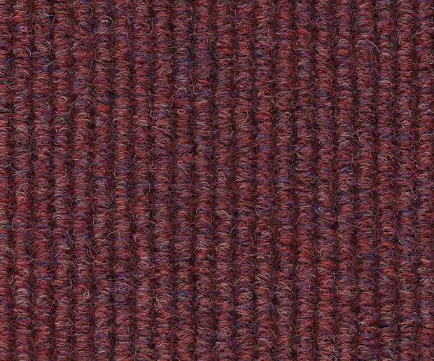 A durable broad ribbed heavy contract carpet sheet and tile