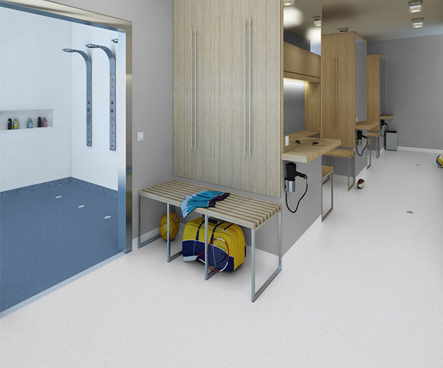 Granit Multisafe is a special flooring for wet areas, designed for better safety underfoot