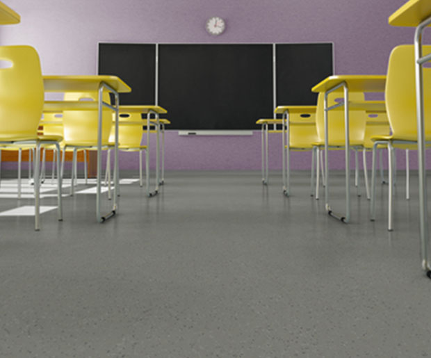 The ultimate safety floor, Safetred Ion Contrast is a flexible, glass fiber reinforced vinyl floorcovering with particle enhanced slip resistance.