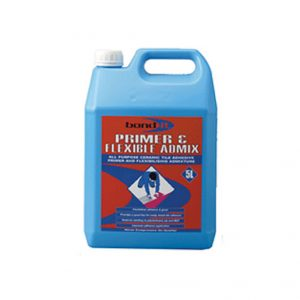 An acrylic dispersion for use as a primer prior to tiling or as an additive to cement based tiling products to improve adhesion and flexibility