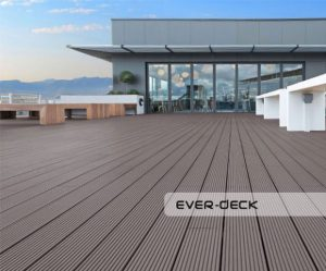 Teranna ever deck composite decking boards installed on the terrace on the top of the business building