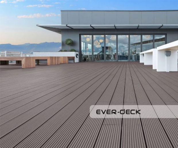 Image of Teranna Ever Deck composite decking boards on the terrace