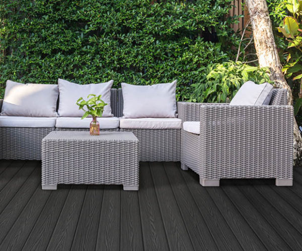 Teranna Composite Decking Ever-Deck - Slate Grey Lifestyle Image - Timber Effect