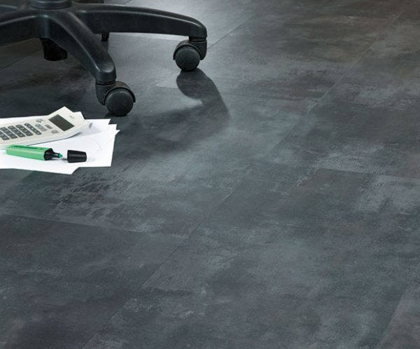 Design Floors type Imperial Stone Dorato Stone made of Vinyl with stone look installed in Office