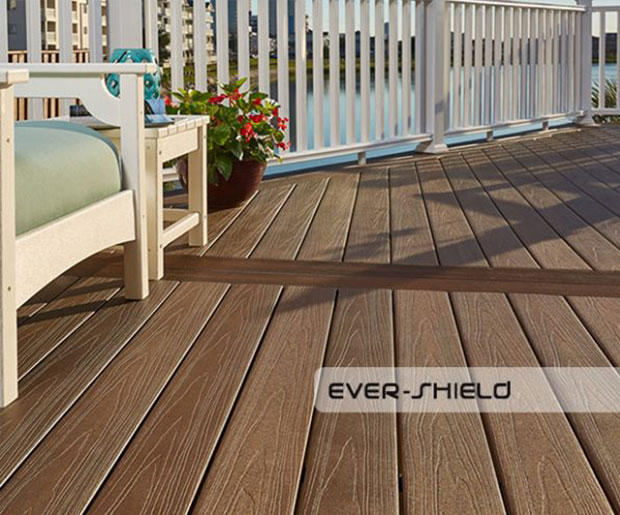 Image of Teranna Ever Shield composite decking boards on the terrace