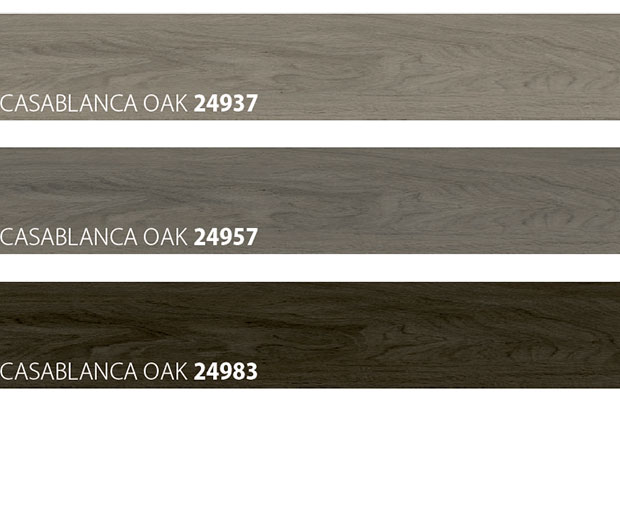 colour samples of wooden look floor