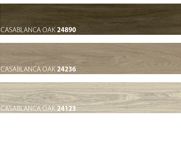colour samples of wooden look vinyl floor