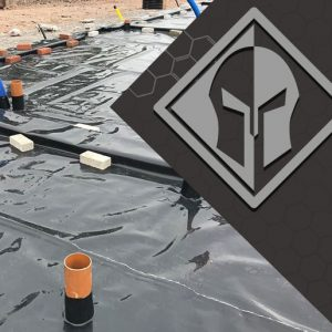 Juta titanbond fully bonded membrane installed on the site with Titan logo