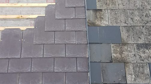 Roof Renovation Project, Tapco Slate Tile