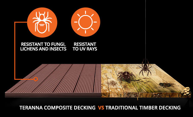 Teranna Composite Decking - Resistant to UV Rays, Insects, Fungi & Lichens